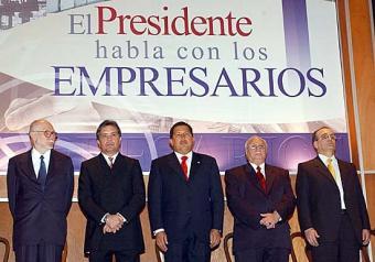 empresarios con Chávez